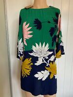Joules Dress Tunic Top UK Size 12 Womens Ladies Green Light Floral Summer BNWT