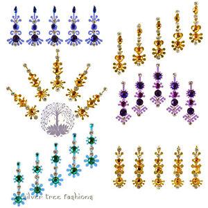 1 pack of BLUE & GOLD Indian DIAMANTE Bridal FESTIVAL Crystal TIKKA Bindi JEWEL
