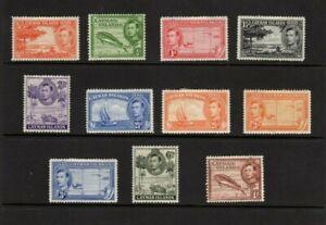Cayman Islands 1938 set to 1/-  mint