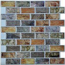 Bathroom Kitchen Backsplash Tiles Peel and Stick Ceramic Stone Glass Tiles 6
