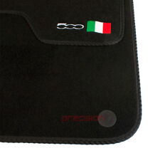 Fiat 500 (2013 Onwards) - Fitted Tailored Car Mats with 500 Logo & Black Binding