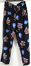 Mens Varsity Sleepwear Football Fantasy Team Soft Fleece Lounge Pajama Pants L