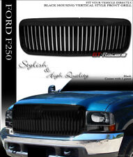 FOR 1999-2004 FORD F250/EXCURSION BLACK VERTICAL FRONT BUMPER GRILL GRILLE ABS