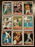 1991 Topps CLEVELAND INDIANS Complete Team Set 30 ALOMAR All Star Rookie SHARP !