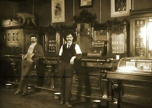 Wild West Montana Saloon PHOTO Bar Old Tavern Cowboys 1905