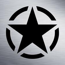 Sticker ARMY US étoile autocollant armée militaire - 5 formats - 14 coloris