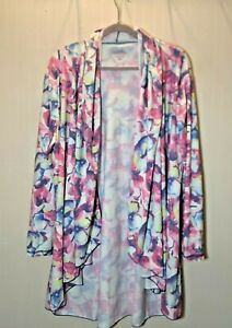UPF 50+ UV Skinz Sunwear Sun Protection Cover Up Cardigan Top Pink Floral 3XL