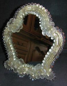 Murano Glas Wand-/ Standspiegel 60/70er Jahre Organische Form