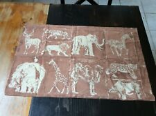 RARE 1973 Martex BEDFORD STUYVESANT PILLOWCASE Elephant Giraffe Zebra SAFARI