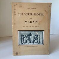 Envío Paul Brenot Un Antigua Hotel de La Swamp Xive A Xx Siglo Puntos Autor 1939