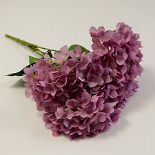 SILK HYDRANGEA BUNCH 5 HEADS 4 COLOURS WEDDING DECOR CENTREPIECES EVENTS