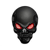 Totenkopf 3D Aufkleber Schwarz Matt Rot Sticker Auto Motorrad Schädel Emblem