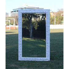 Europe palace style Embossed Wall Mirror White Wooden frame 114cm x 70cm