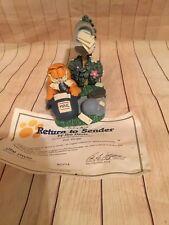 Danbury Mint Garfield Figurine Sculpture Jim Davis Coa Return To Sender Mail Box