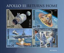 Maldives 2019 Apollo 11 , returns home ,space S201904