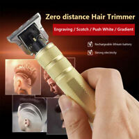 Portable Electric Pro T-outliner Cordless Trimmer Cutter Wireless Hair Clipper