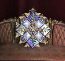 Zibellini Medieval Iridescent Lilac Blue Pearl Massive Brooch