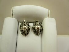 Sterling Silver Marcasite Round Square Oval Post Earrings