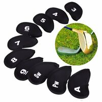10pcs Neoprene Golf Club Iron putter Head Cover Protect Case Set new UK STOCK