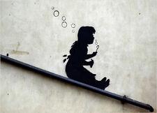 Banksy Chica soplando burbujas Pegatinas de Vinilo Coche Furgoneta Camión Taxi Camión