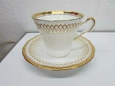Adderley Fine Bone China Tea Cup & Saucer Gold Scroll Glenmayne Pattern