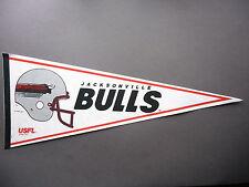 EARLY 1980'S 1982 1983 USFL FOOTBALL PENNANT FLAG JACKSONVILLE BULLS NICE!!