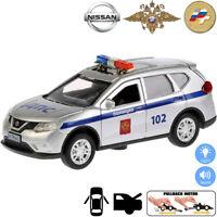 Nissan X-Trail Diecast Metal Model Car Russian Police Toy Die-cast Light Sound