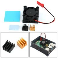Squared Fan Single Fan With Heatsink Thermal adhesive For Raspberry Pi 4B 3B+ 2B