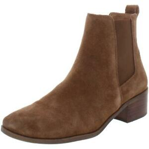 Steve Madden Womens Dover Brown Suede Ankle Boots Shoes 7 Medium (B,M) BHFO 9774