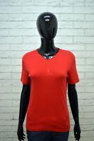 Polo TRUSSARDI Donna Taglia L M Maglia Maglietta Camicia Shirt Woman Rossa