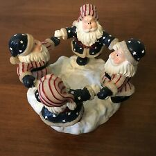 Home Interiors 55001 Christmas Patriotic Santas Votive Candleholder