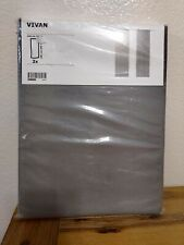 "IKEA Vivan Gray Pair of Curtains 2 panels Gray 57 x 98 1/2 "" drapes NEW"