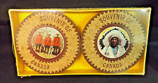 Vintage Canadian Coasters by Home Leather Kraft. Toronto. Mounties and Chiefs