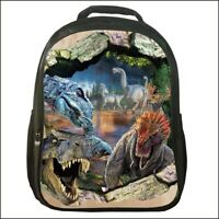 Newest 3D Dinosaur Backpack Canvas Travel Bags Casual Mellow Dance School Bag