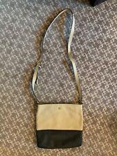 kate spade purse - cross body style - black and cream
