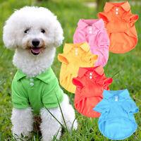 Cute Pet Puppy Polo Shirt Small Dog Cat Pet Clothes Costume Apparel T-Shirt Code