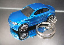 BMW 1 Series M Coupe Key Chain Ring Blue 2010  Diecast Fob