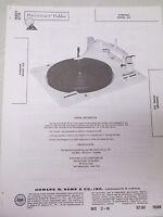 Vintage Sams Photofact Folder Radio Parts Manual Garrard 210 Record Player