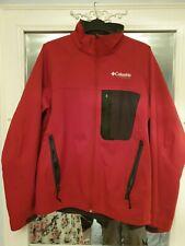 Columbia Titanium Mens Red Medium Jacket