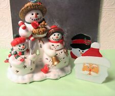 PartyLite Snowbell Tealight Candle Holder , Santa and Snowman Tealight Holders