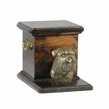 Brussels Griffon, dog urn made of cold cast bronze, ArtDog, UK - kind2