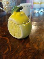 Vintage Lemon Sugar Bowl