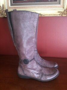hispanitas leather boots size 39- Made in Spain
