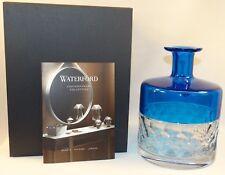 BEAUTIFUL WATERFORD CRYSTAL JO SAMPSON HALF & HALF AZURE VASE BNIB 40018017 BLUE