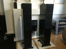More details for kef r5 floorstanding speakers – piano black pair in very good condition