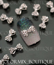 10pcs 3D Bow Knot Nail Art Decoration Alloy Jewelry Glitter Rhinestone #CA013