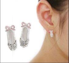 Silver Plated Rhinestone Stud Fashion Earrings