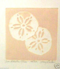 Sand Dollars, Two by Mary Dinkins; Hand Colored Etching