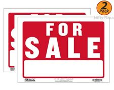 """2 Pack - FOR SALE Sign 9""""x12"""" Flexible Plastic Business/Personal Use - FAST SHIP"""