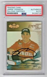 2000 Upper Deck UD Racing Jimmie Johnson Signed Rookie RC Card #38 PSA/DNA